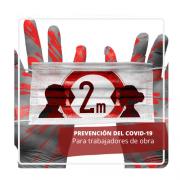 prevención del COVID-19 para trabajadores de obra