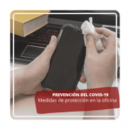 prevención del coronavirus en la oficina